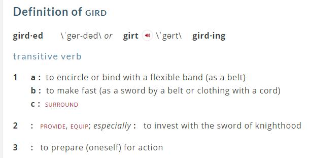 Gird definition